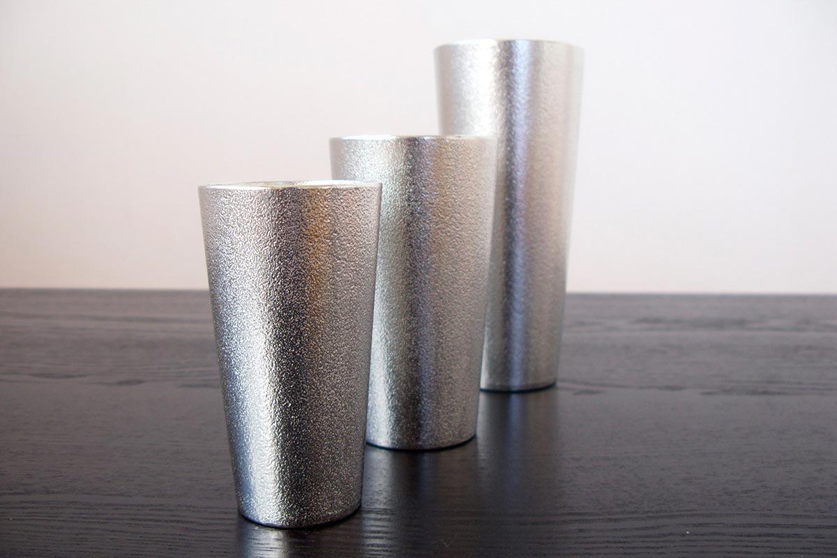 能作錫製 ビアカップ