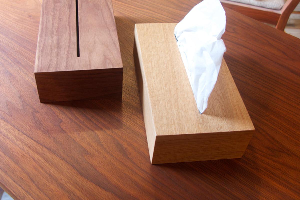 solnte木製 ティッシュケース