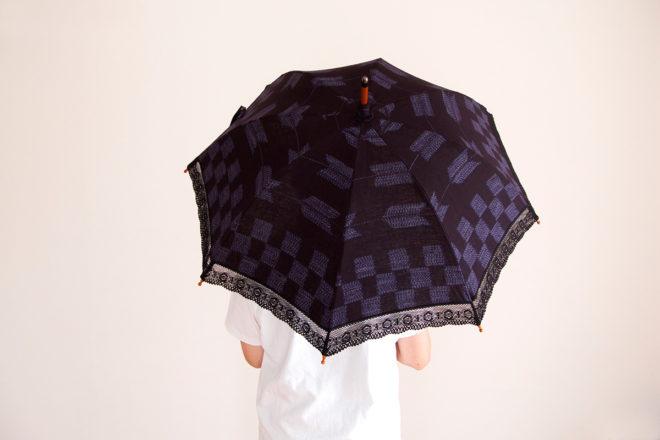 日傘 市松矢 柄