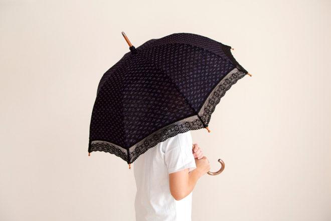 日傘 小麦柄ヨコ