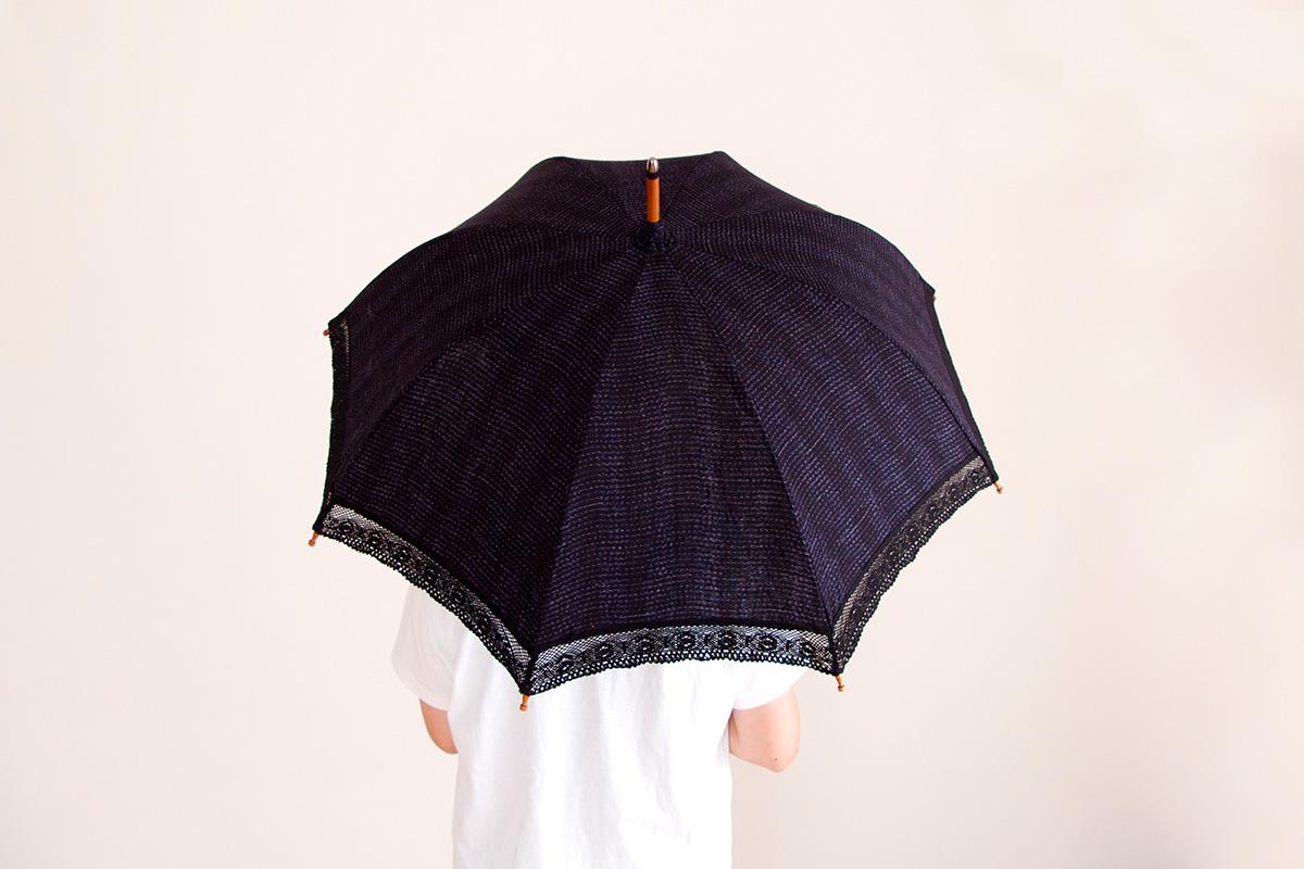 日傘 さざ波 柄
