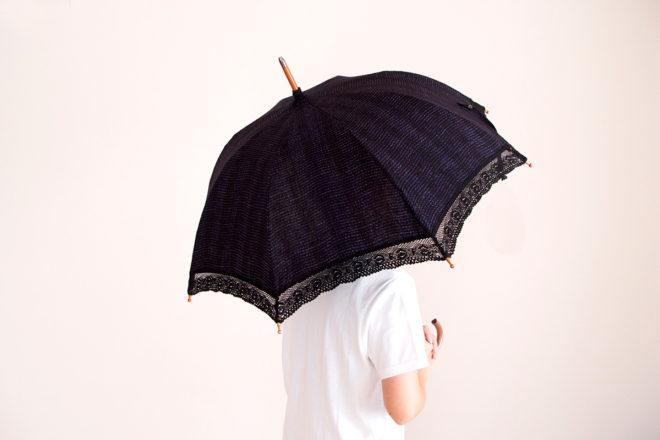 日傘 さざ波ヨコ