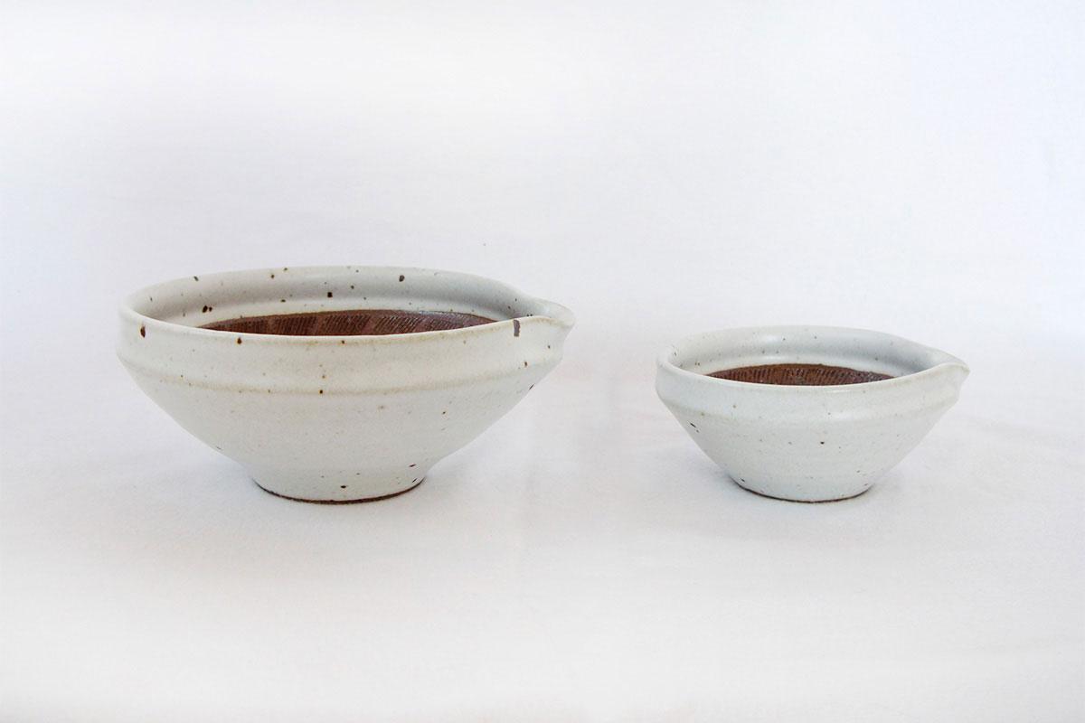 すり鉢 ワラ白4寸6寸