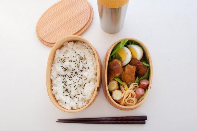 曲げわっぱ(楕円)お弁当イメージ