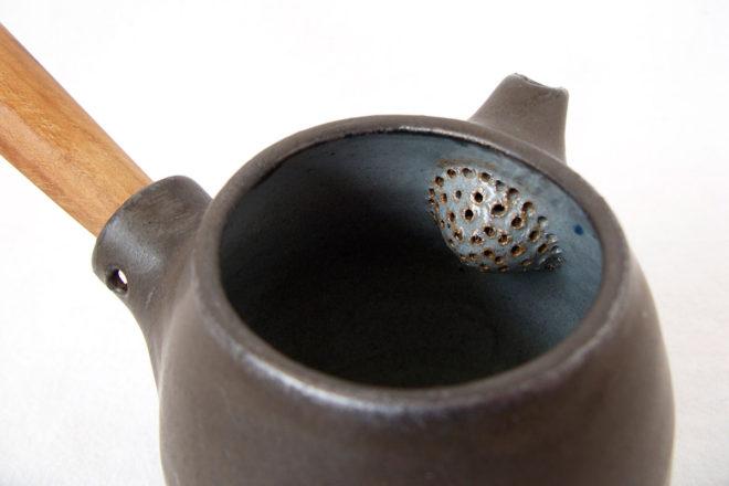 急須(黒)しずく 茶ごし