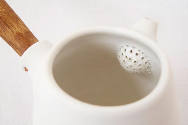 急須(白)しずく 茶ごし