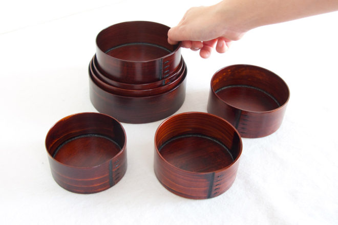 小坂屋漆器店 曲げわっぱ弁当箱 七つ鉢