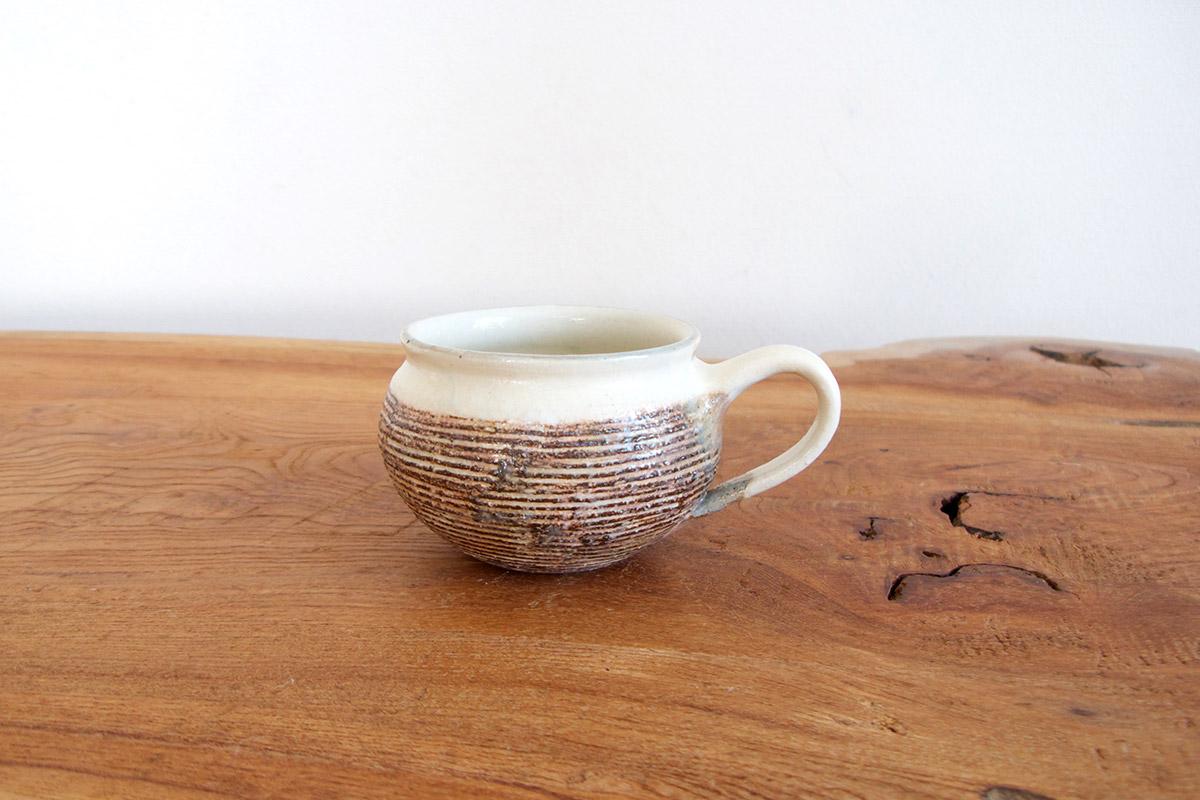 古谷浩一 / 古谷製陶所 渕荒横彫 コーヒーカップ