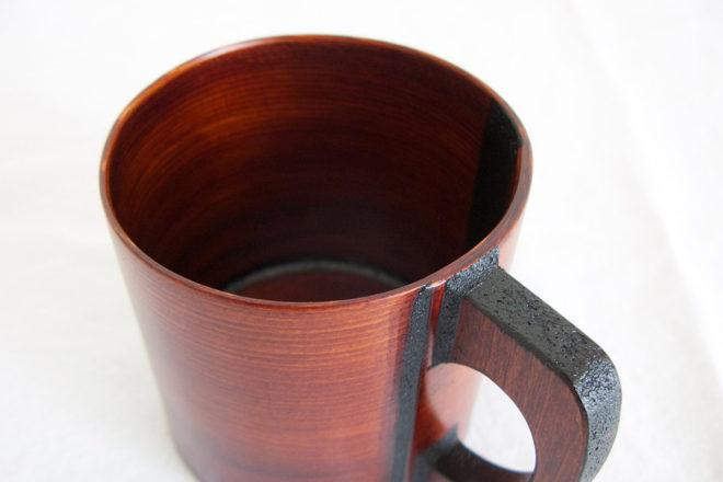 小坂屋漆器店 摺り漆曲げわっぱマグカップ